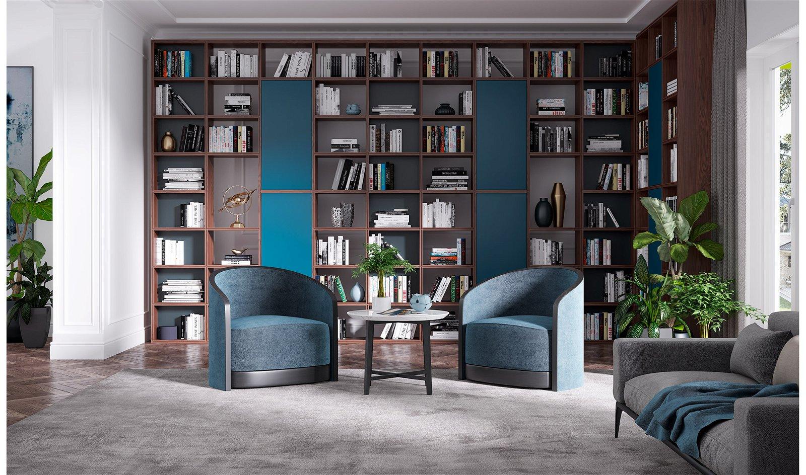 Librería 3 módulos con puerta moderno Eleganzza