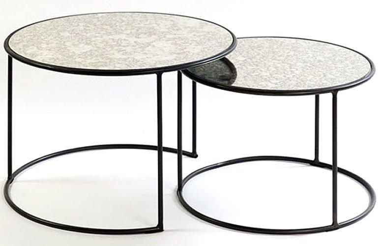 Mesas bajas metal y cristal
