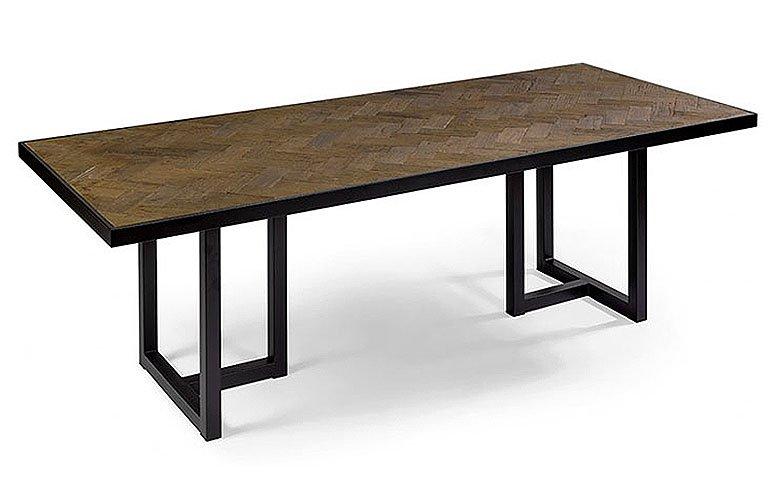 Mesa de comedor roble y metal