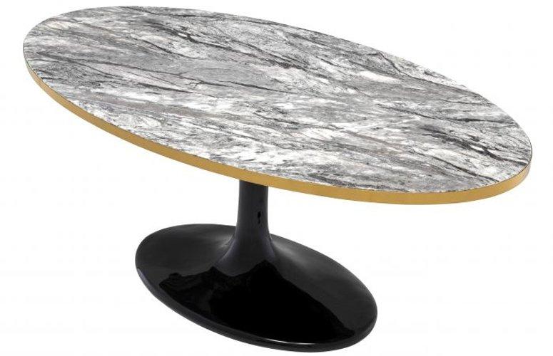 Mesa de centro mármol Parme Oval