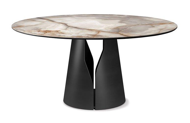 Mesa de comedor redonda Giano keramik Cattelan