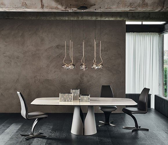 Mesa de comedor ovalada Giano keramik Cattelan