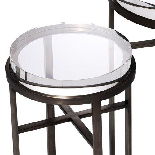 Mesa auxiliar cristal Hoxton set de 2