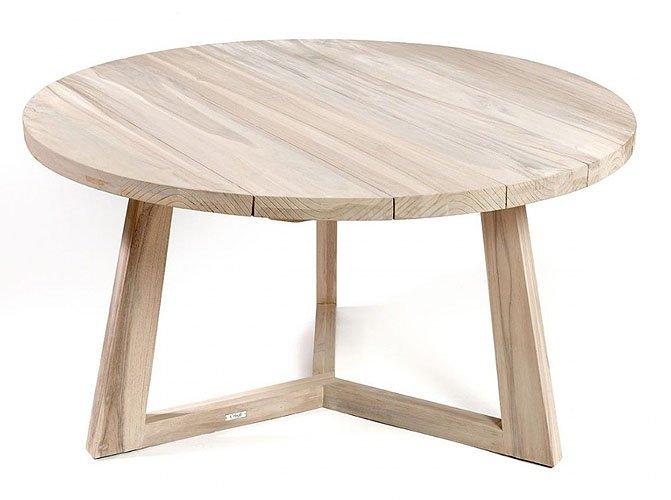 Mesa redonda exterior madera teca