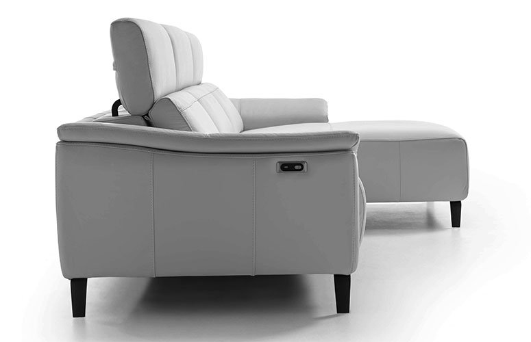 Sofá con chaise longue piel relax Tucan