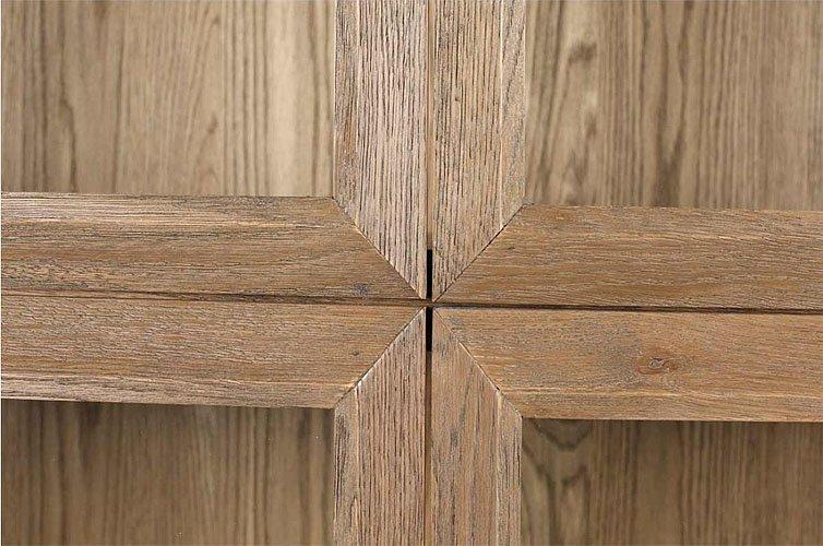 Vitrina madera de roble y cristal