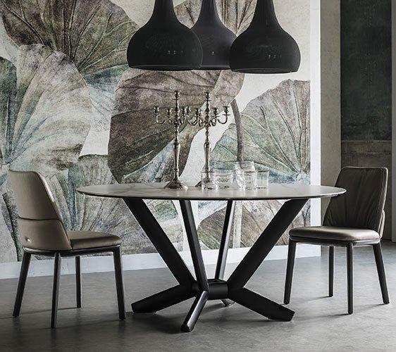 Mesa de comedor round Planer keramik Cattelan