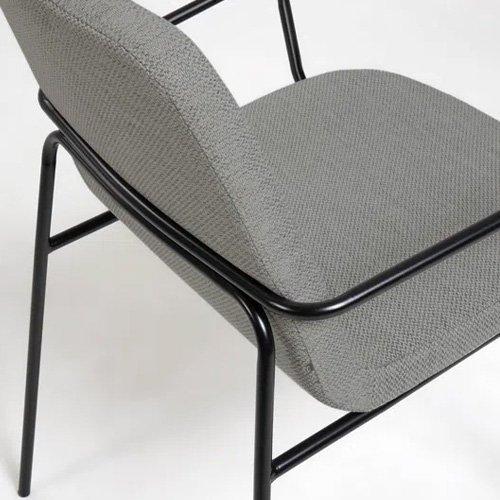 Silla Guilia tapizado gris claro