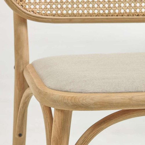 Silla Doriane madera poliéster acabado natural