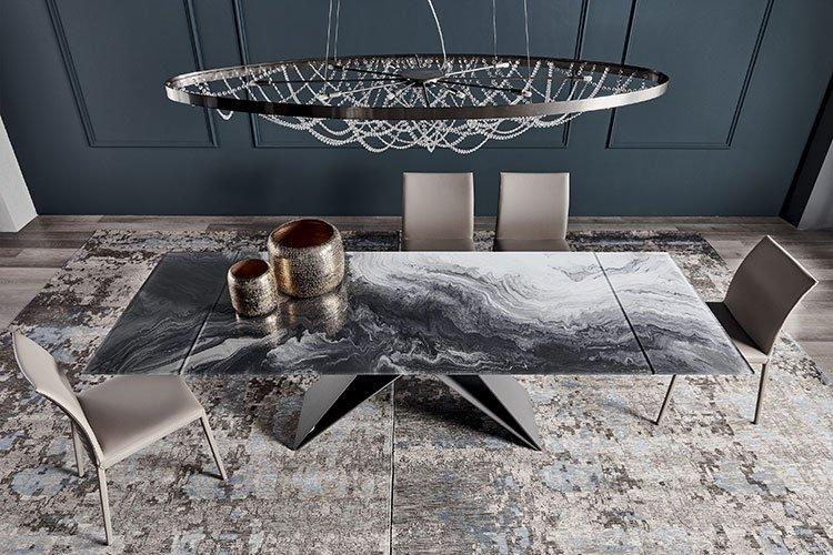 Mesa de comedor Premier crystalart Drive Cattelan