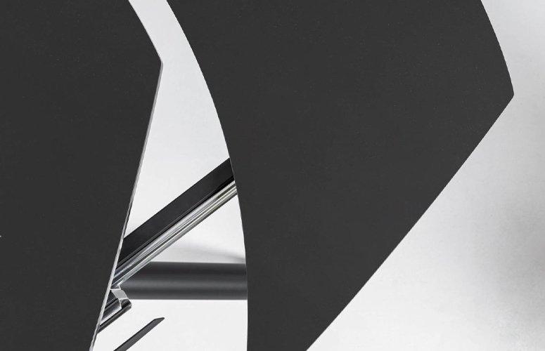 Mesa extensible Yodalia cristal negro