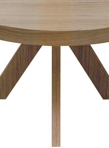 Mesa de comedor redonda fija roble Zafiro