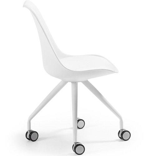 Silla de escritorio moderna Ralf blanco