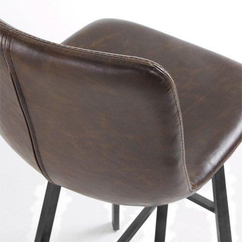 Taburete marrón oscuro vintage Crat