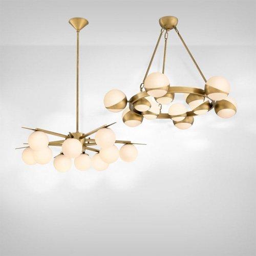Lámpara moderna de metal Piazetta