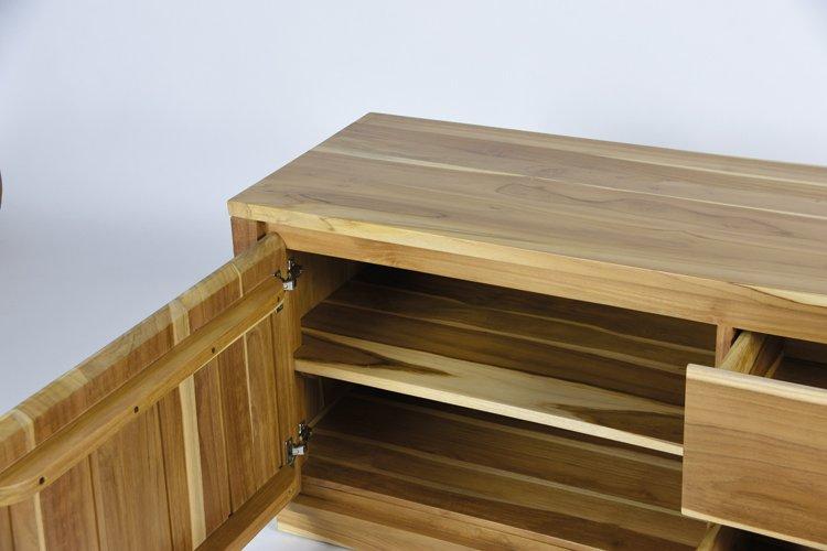 Mueble de TV nórdico de madera Fiordo