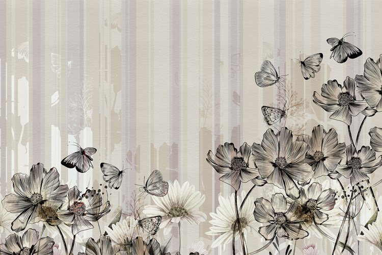 Papel pintado Flowerlines by Inkiostro