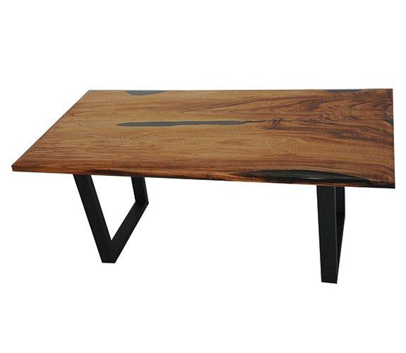 Mesa de comedor nogal macizo Lerit