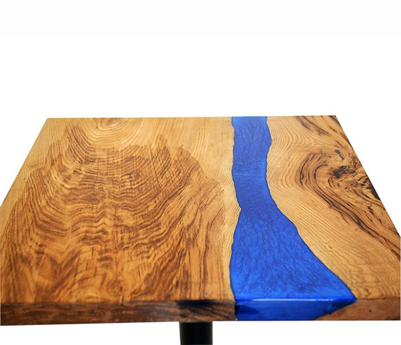 Mesa de cocina nogal macizo Kenir