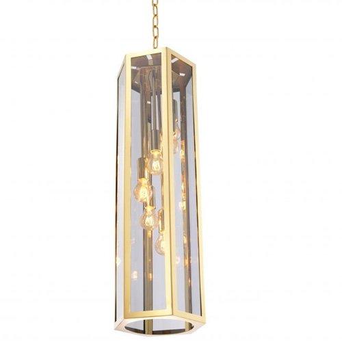 Lámpara techo dorada Rondoni