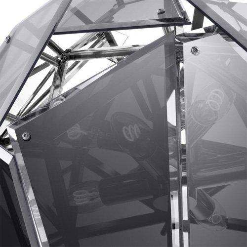 Lámpara techo negra Shard