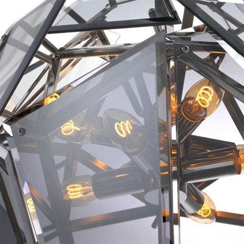Lámpara techo plateada Gigi S