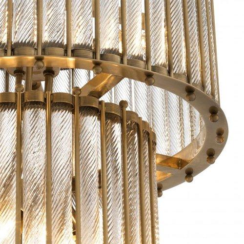 Lámpara techo plateado Tiziano Double