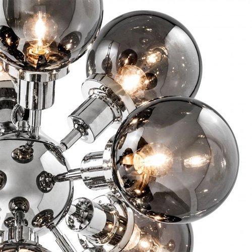 Lámpara techo plateada Ludlow
