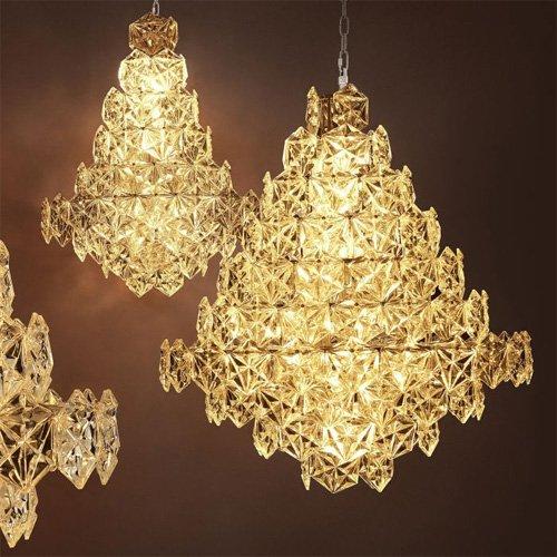 Lámpara techo plateada Hermitage S