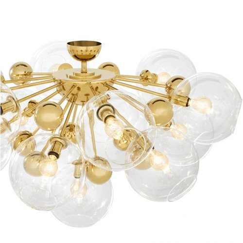 Lámpara techo dorada Solei