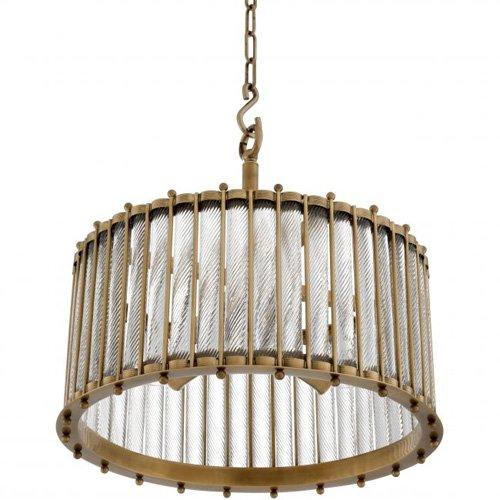 Lámpara techo dorada Tiziano Single
