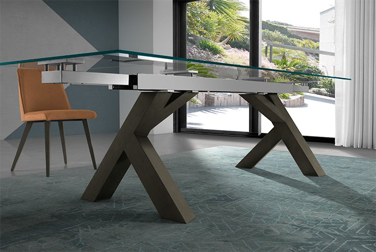 Mesa de comedor extensible de diseño Sehar
