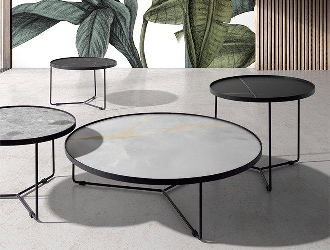 Mesa de centro redonda porcelánico Cosette