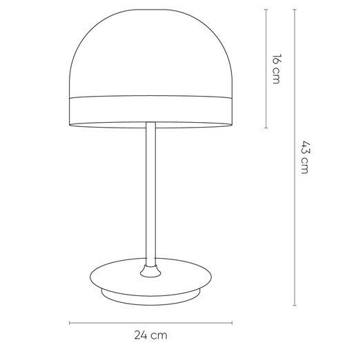 Lámpara de mesa Raychel oro
