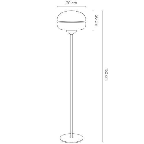 Lámpara de pie Dabache cobre