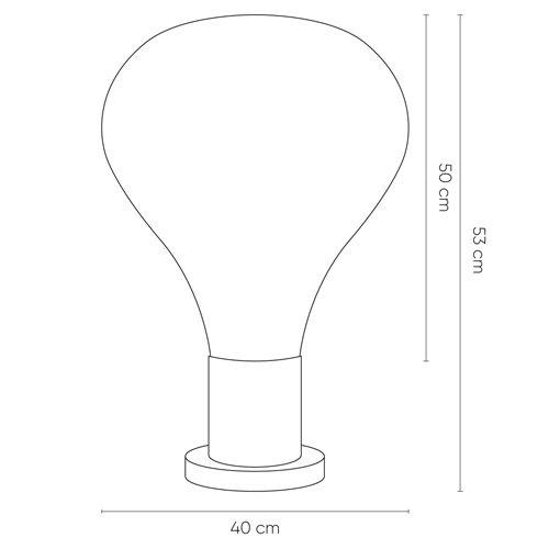 Lámpara de mesa Triz smoky