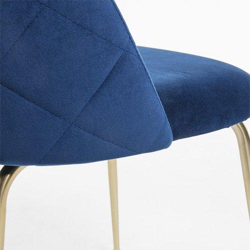 Silla terciopelo Ivonne azul