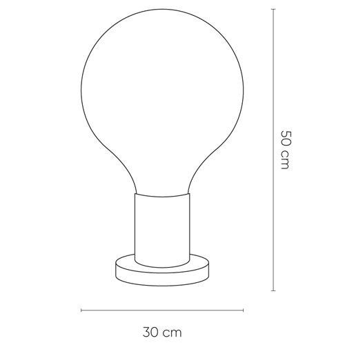 Lámpara de mesa Lauge ámbar