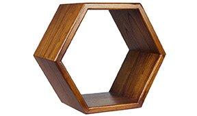 Estante Nordic hexagonal