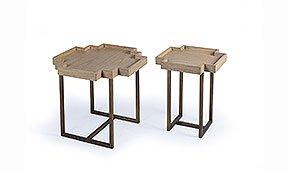 Set de 2 mesas auxiliares cruz Artisan