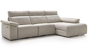 Sofá con chaise longue tapizado relax Melope
