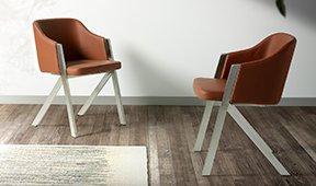 Sillón moderno tapizado y acero Ruapehu