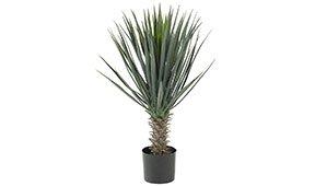Planta artificial en maceta Yuca