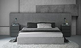 Cabecero y cama de Microcemento Concret