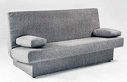 Sofá cama clic clac con arcón tapizado