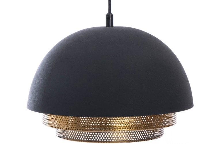 Lámpara techo Cleveland negro dorado