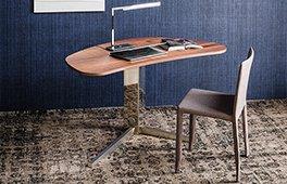 Mesa de escritorio nogal canaletto Island Cattelan