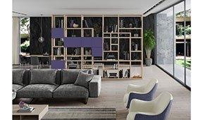 Librería separador de ambiente ultra violet Adagio