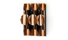Aplique de pared metal cobre Brero