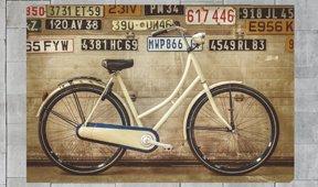 Cuadro retroiluminado vintage bike